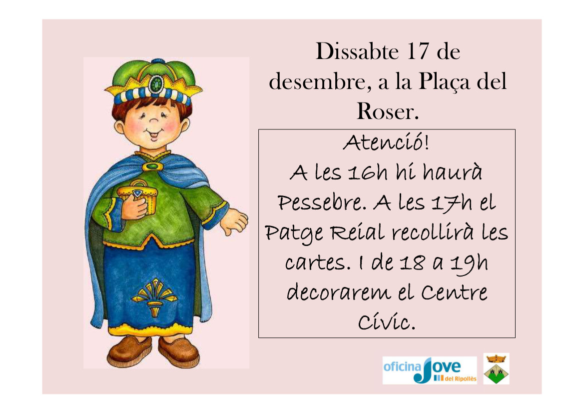 cartell patge reial